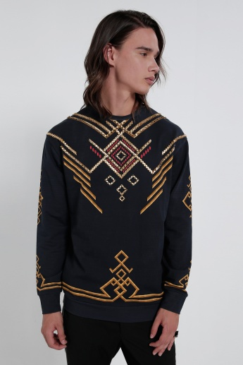 Embellished Sweatshirt with Long Sleeves