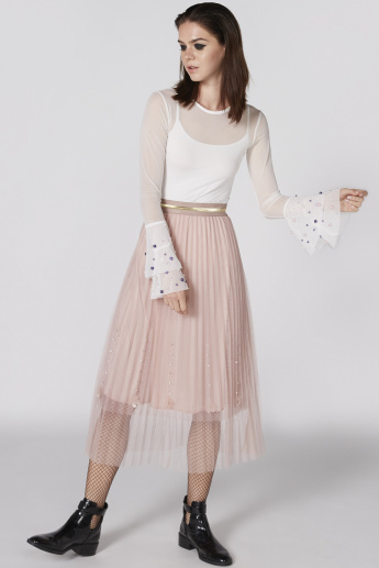 0cce35a6c3 Embellished Tulle Skirt with Elasticised Waistband | Skirts ...
