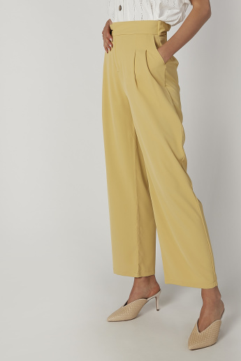 Full Length Plain Palazzo with Pocket Detail