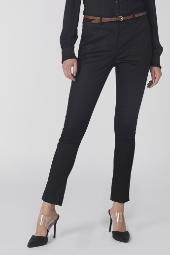 Elle Full Length Trousers with Pocket Detail