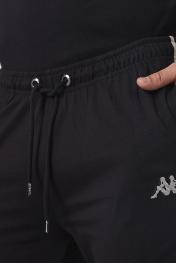 Kappa Full Length Jog Pants with Elasticised Waistband and Tape Detail