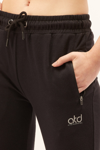 Full Length Cuffed Jog Pants with Elasticised Waistband and Drawstring