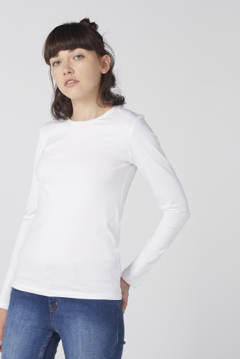 Round Neck T-Shirt with 3 - 1 Finish