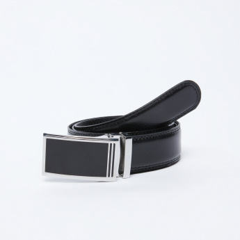 Textured Belt with Plate Buckle Closure