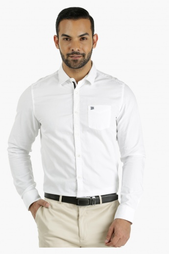 Being Human Long Cotton Shirt in Regular Fit