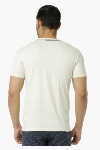 Being Human Printed Crew Neck Cotton T-Shirt with Short Sleeves