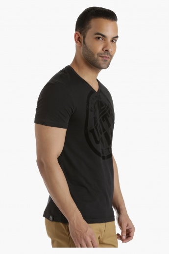 Being Human Cotton T-Shirt with V-Neck in Regular Fit