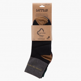 Being Human Cotton Ankle Socks - Set of 3