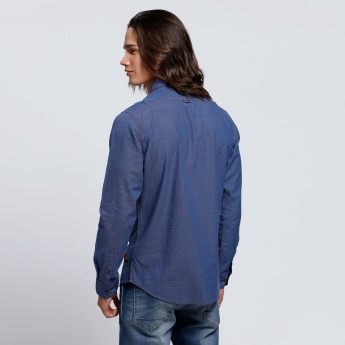 Being Human Long Sleeves Shirt with Patch Pocket