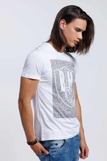 Being Human Printed Short Sleeves T-Shirt with Crew Neck