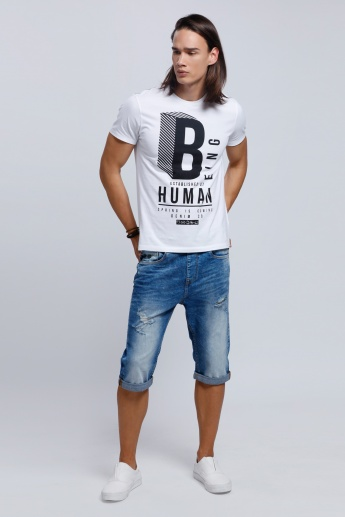 Being Human Crew Neck T-shirt with Short Sleeves