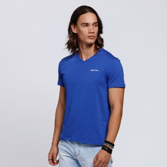 Being Human Short Sleeves V-Neck T-Shirt