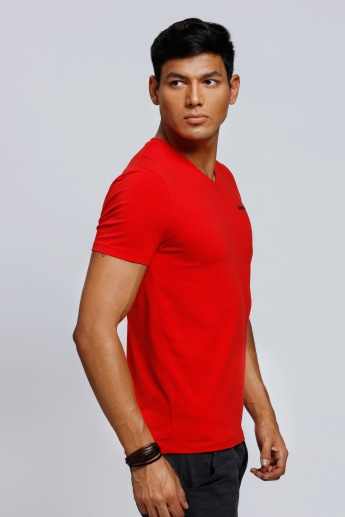 Being Human V-Neck T-Shirt with Short Sleeves