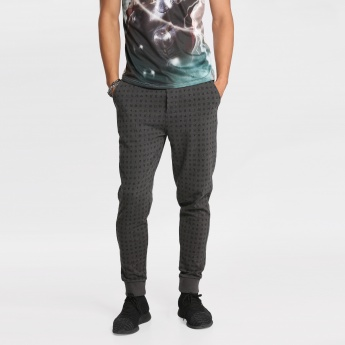 Being Human Printed Full Length Jog Pants with Cuffs