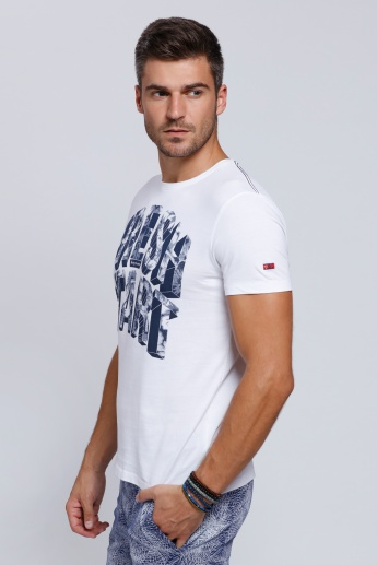 Being Human Printed T-Shirt with Round Neck and Short Sleeves