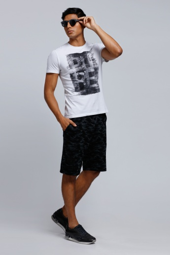 Being Human Printed T-Shirt with Crew Neck and Short Sleeves