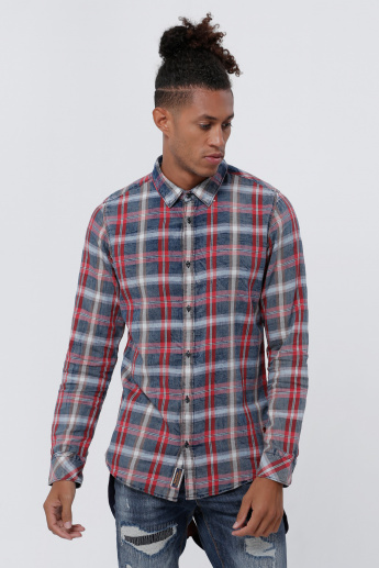 Being Human Chequered Shirt with Long Sleeves