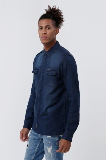 Being Human Long Sleeves Shirt with Button Placket