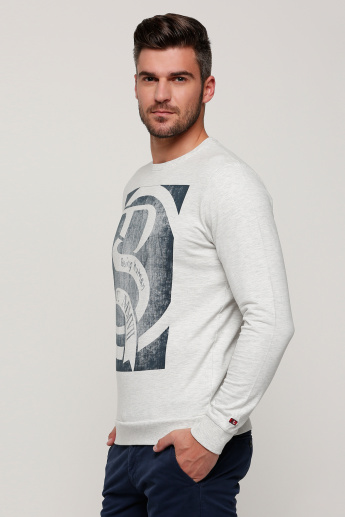 Being Human Printed Round Neck T-Shirt with Long Sleeves
