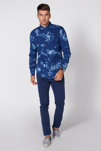 Being Human Printed Shirt with Long Sleeves and Complete Placket