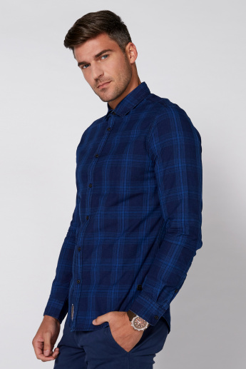Being Human Chequered Shirt with Long Sleeves and Complete Placket