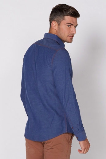 Being Human Long Sleeves Shirt with Complete Placket