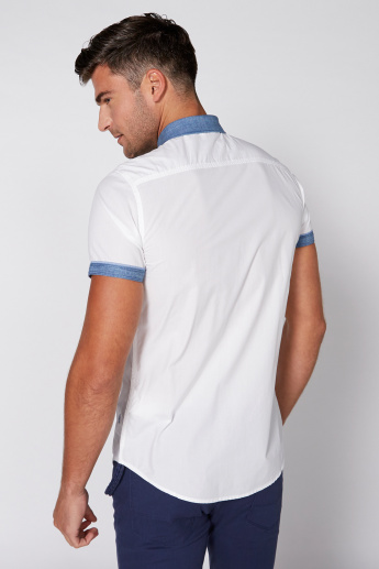 Being Human Short Sleeves Shirt with Contrast Placket