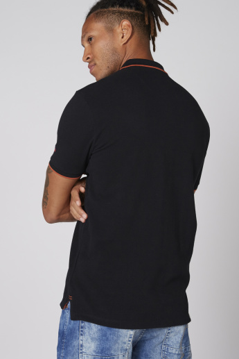 Being Human Polo Neck T-Shirt with Short Sleeves