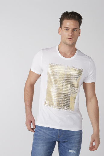 Being Human Graphic Printed T-Shirt with Round Neck and Short Sleeves