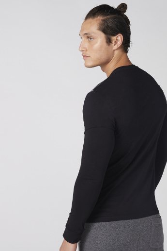 0624f8e6 Being Human T-Shirt with Round Neck and Long Sleeves | Basics ...