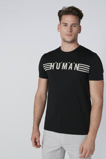 Being Human Printed T-Shirt in Slim Fit with Crew Neck