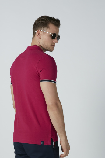 Being Human Basic T-Shirt with Polo Neck and Short Sleeves
