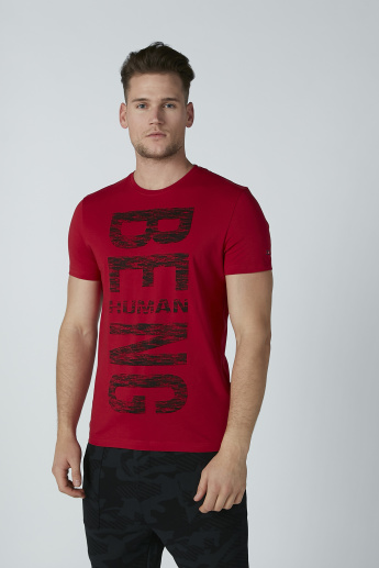 Being Human Printed T-shirt with Round Neck