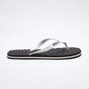 3b7dc11d041b Being Human Flip Flops with Textured Footbed and Logo Detail Straps ...