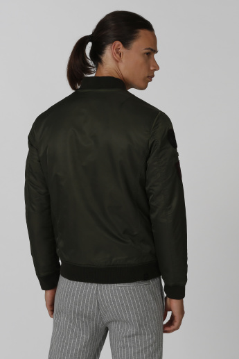 Being Human Bomber Jacket with Applique Detail