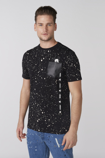 Mickey Mouse Printed T-Shirt with Crew Neck and Short Sleeves