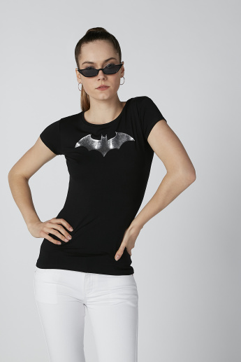 Batman Printed T-shirt with Round Neck