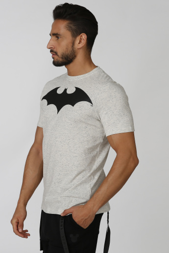 Slim Fit Sustainability Batman Printed T-shirt with Short Sleeves