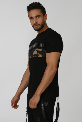 Slim Fit Sustainability Printed T-shirt with Short Sleeves