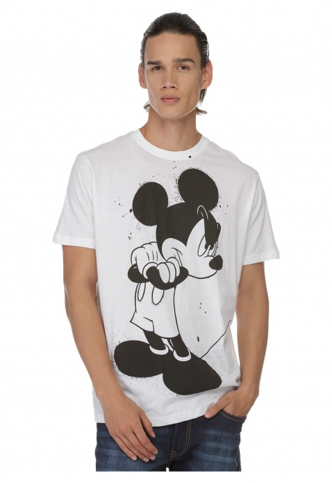 Mickey Mouse Print T-shirt