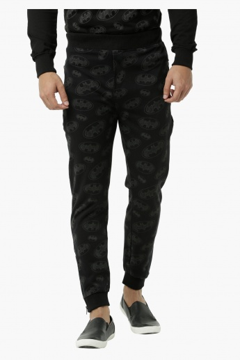 Batman Printed Jog Pants with Cuffed Hem