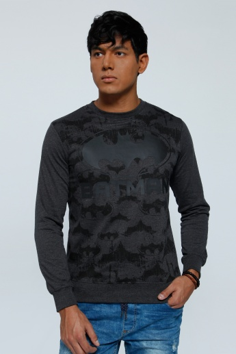 Printed Sweatshirt with Crew Neck and Long Sleeves