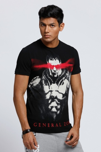 General Zod Printed T-Shirt with Short Sleeves and Crew Neck