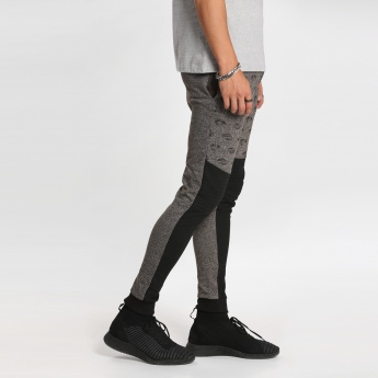 Printed Full Length Jog Pants with Cuffs