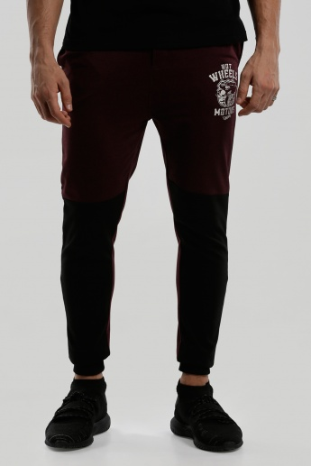 Hot Wheels Embroidered Full Length Jog Pants with Cuffs
