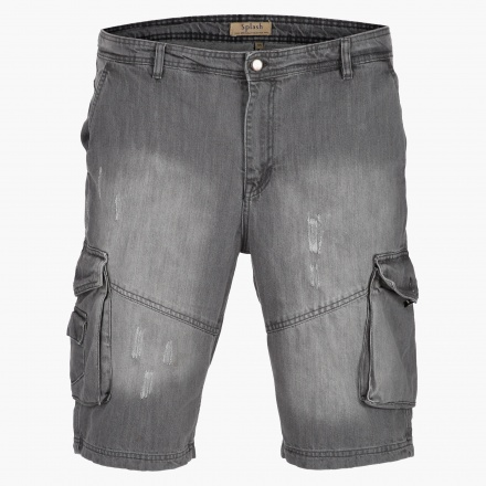 Washed Out Denim Shorts