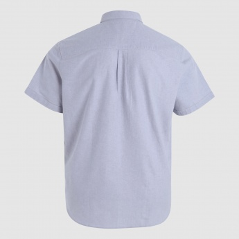 Short Sleeves Shirt with Patch Pocket