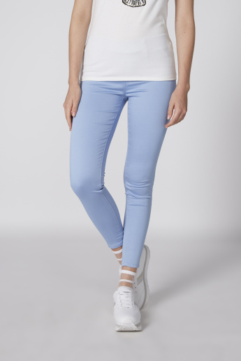 40a38cc573544 Full Length Jeggings with Elasticised Waistband and Pocket Detail