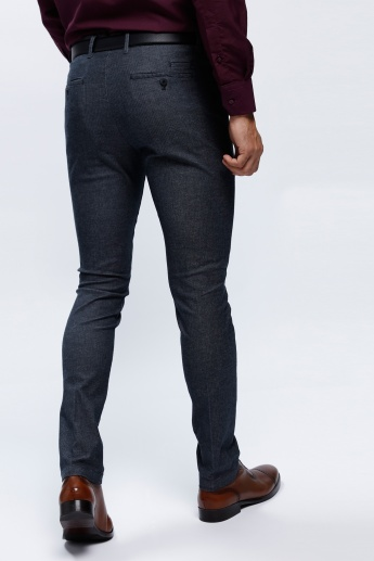 Textured Trousers in Slim Fit