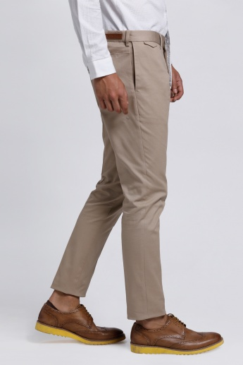 Full Length Trousers with Button Closure
